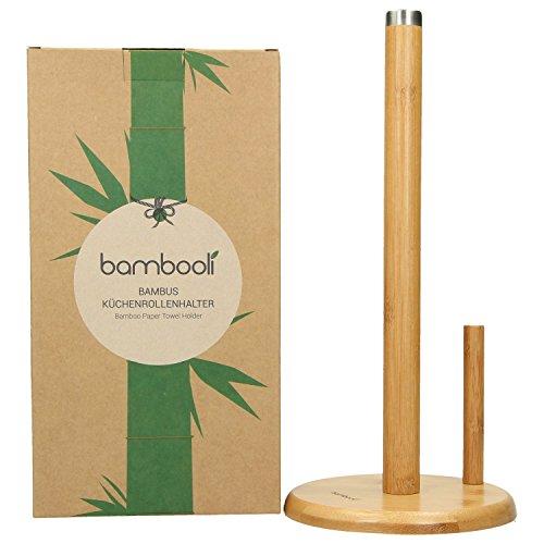 Bambooli porta rotolo di carta da cucina in legno di bamb - Porta rotolo carta da cucina ikea ...