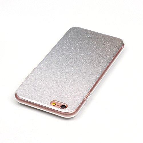 iPhone 6 Plus Case,iPhone 6S Plus Hülle - Felfy Apple iPhone 6 Plus/6S Plus 5.5 Zoll Ultra Slim Ultradünn Case Soft Gel Flexibel TPU Silikonhülle mit Bling Sternchen Gradient Farbe Design Protective S Silver Case
