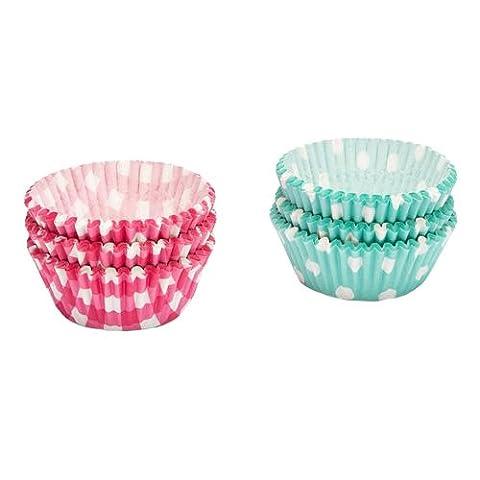 Patisse 2047919 Caissette à Cupcakes Lot de 200 Pièces Papier Carreau/Cercles