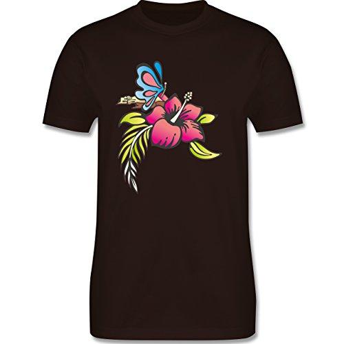 Blumen & Pflanzen - Blumen - Herren Premium T-Shirt Braun