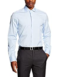 Hackett London Hkt Poplin Slim Bc, Chemise Business Homme
