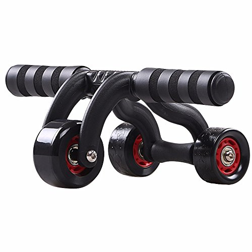 AB Roller Rad Dreiecksstütze Bauch Roller Core Bauch Trainer Workout Fitness Trainingsgerät mit Knie Pad für Körper Fitness Krafttraining Yoga Gym