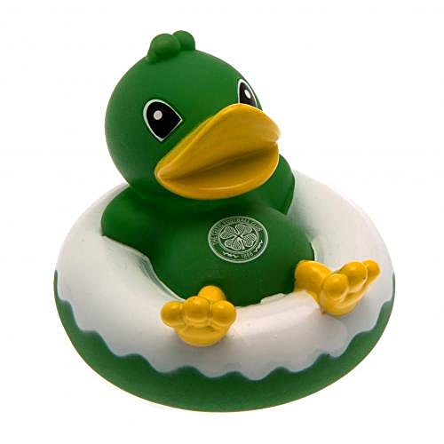 Baby-Toys-Official-Celtic-FC-Rubber-Dinghy-Duck-Bath-Toy-Novelty-Baby-Football-Gift-Ideas