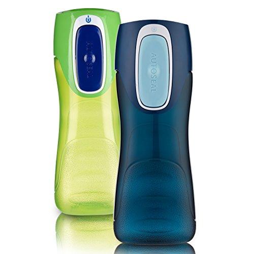 Contigo AUTOSEAL Trekker Kids Water Bottle 14oz 2-Pack: Granny Smith & Nautical - Autoseal Contigo Deckel