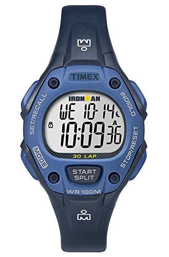 Timex Damen Digital Quarz Uhr mit Plastik Armband TW5M14100 (Timex Damen-armbanduhr Blau)