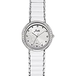 Joalia Women's Analogue Watch with White Dial Analogue Display and Stainless steel plated Bicolour - 631147