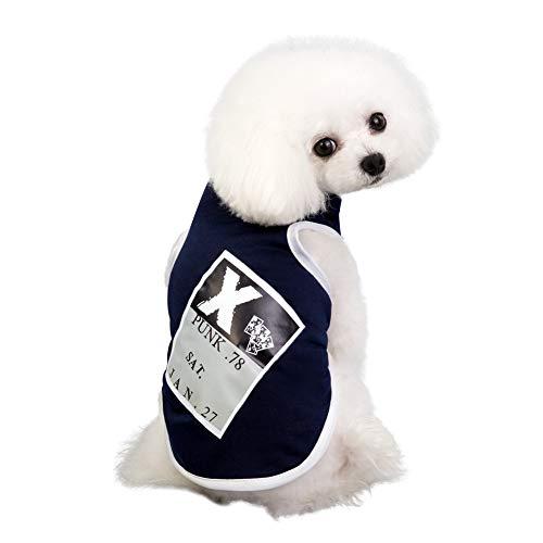 Punk Kostüm Cute - Sunshay Pet Shirt Super Cute Puppy Weste Hunde Pullover Punk Shirt weiches Sweatshirt Kostüm für kleine Hunde