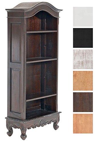 Bücherschrank Mahagoni im Landhausstil mit 4 Fächern