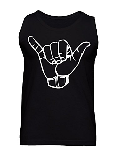 graphke Hand Showing Two Fingers Hang Loose Camiseta Para Hombre BvhvuUJ0