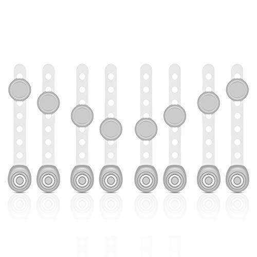 Philorn Kindersicherung Schrank, Kindersicherung für Schubladen/Schranktüren/Tür/Toilette/Kühlschrank - Länge Verstellbar/360° Drehbar/Stark 3M Klebstoff/Werkzeug-frei (Grau)