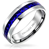 Bling Jewelry Simulated Sapphire Crystal September Birthstone Eternity Ring Steel