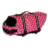 lffopt Salvagente Cane Squalo Salvagente per Cani Giacca Antipioggia per Cani Cappotti per Cani Impermeabili Giubbotti di Salvataggio per Animali Domestici Pink,XL