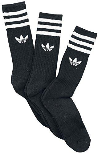 adidas originals Socks - adidas originals Solid Crew Socks - Black/white (11 Crew-weiße Socken)
