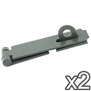 Loquet et Agrafe robuste–17,8cm–pour serrures de porte et de sécurité (Lot de 2)