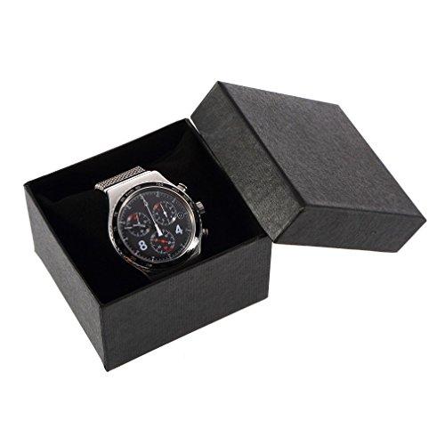 Youlala Schmuckkästchen für Armbanduhr, quadratisch, für Halsketten, Ringe, Uhren