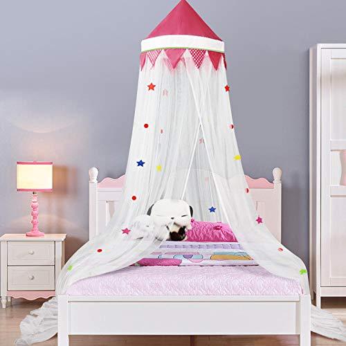 YUGOOS moskitonetz doppelbett,Bed Moskitonetz Baldachin, Kinder Dome Moskito, Princess Pink Einzelbett Hängebett, Puder top_1.5m Bett, Moskitonetz Bed Baldachin,mückennetz