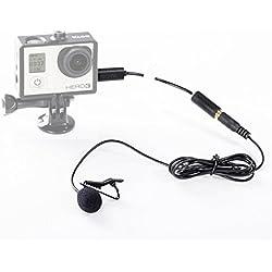 Boya Mini externa USB de 3,5mm Micrófono con clip para GoPro Hero 33+ y otros cámara