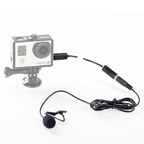 Boya, externes Mini-USB-Mikrofon, 3,5 mm, mit Clip, für GoPro Hero 3 / 3+ und andere Kameras