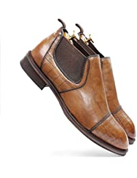one8 Select by Virat Kohli Men's Brown Leather Chelsea Boots