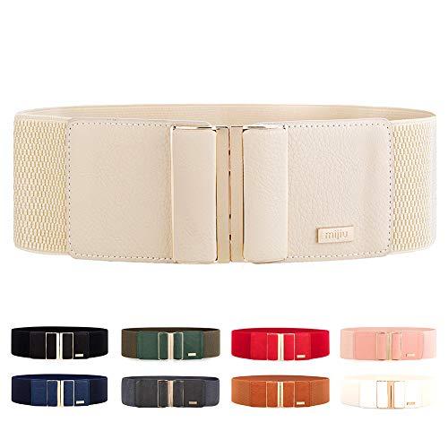 Cintura di largo Elastica da donna regolabile MIJIU Cintura con Fibbia della lega diversi colori
