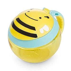 Skip Hop Zoo Snackcup, Snackbox, Aufbewahrungsbehälter für Kinder, mehrfarbig, Biene Brooklyn