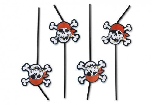 amscan Piraten-Strohhalme -