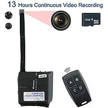 TEKMAGIC 8GB Mini Portátil Módulo de Cámara Espía Activado por Movimiento de la Videocámara DV Soporte 13 Horas de Vídeo de Grabación Continuo