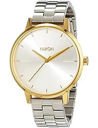 Nixon Damen-Armbanduhr Kensington Gold / Silver  Analog Quarz Edelstahl A0992062-00