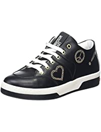 Chaussure Femme Sneakers LOVE MOSCHINO High Top Vulcanized Black Gold New Noir