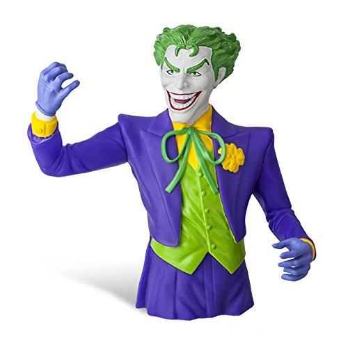 Batman - Salvadanaio decorativo di Joker - Figura della DC Comics con licenza - 20 cm altezza - Materiale sintetico