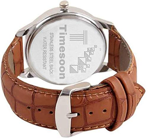 TIMESOON Analogue White Dial Watch for Men,S & BOY,S Watch