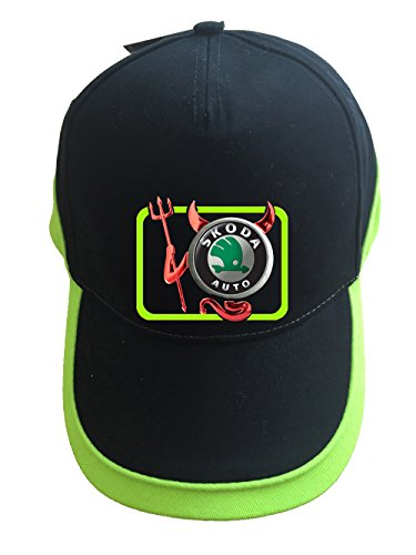 Skoda Devil Teufel Auto Logo Unisex Baseball Cap Mütze -c29 (sw-grün)