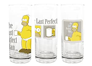 The Simpsons Glas Set the Last Perfect Man 3er Set
