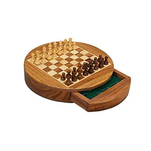 Mzitty-615 Schach-hölzernes Schach-Set mit Spiel-Brett-Innenraum for Lagerung (Size : M)