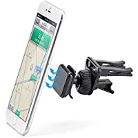 iKross supporto auto Air Vent supporto magnetico per cellulare universale per Apple Iphone 7/6S/6/5s/5 C/5, Samsung Galaxy S7/S6/s5, Motorola, Sony, LG, HTC, Nokia smartphone, colore: nero - Magnetica Facile Wipe