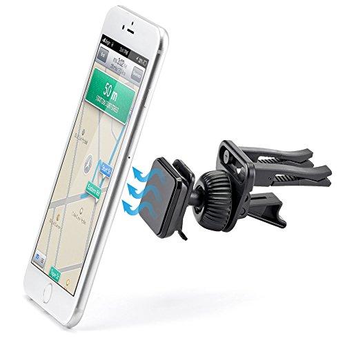 iKross KFZ Air Vent Magnetverschluss Handy Halter Halterung Halter Universal Wiege für iPhone 7/6S/6/5S/5 C/5, Samsung Galaxy S7/S6/S5, Motorola, Sony, LG, HTC, Nokia Smartphone - Schwarz (Macbook Pro Türkis-fall)