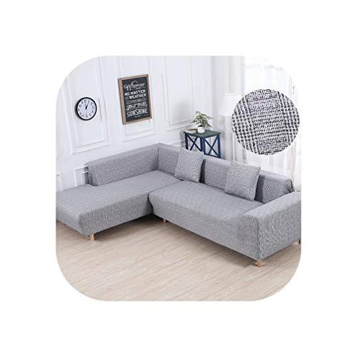 Heloise Richard Sofa-Abdeckung elastische Couch Abdeckung Sectional Stuhl-Abdeckung Es braucht Auftrag 2Pieces Sofa-Abdeckung, wenn Ihre Sofa-Ecke L-Form Sofa, Color14,1Seater Und 4seater -