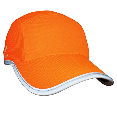 Headsweats Race Hat Hi Vis Reflective Laufmütze Sportkappe, Neon Orange, Uni