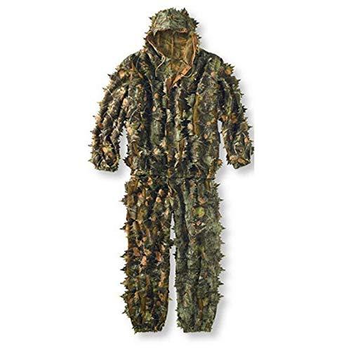 JesseBro76 Lebensechte 3D Blätter Camouflage Poncho Mantel Stealth Anzüge Outdoor Woodland CS Spiel Kleidung Universal für die Jagd Schießen Tarnung Free People-poncho