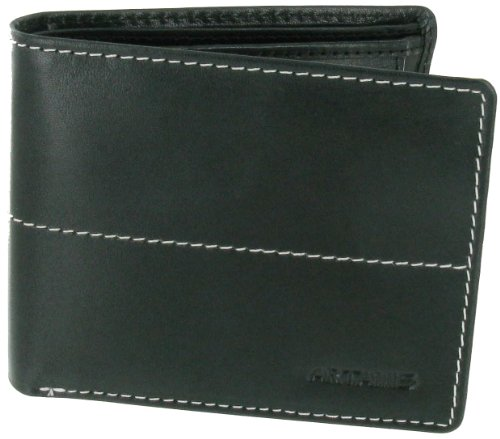Black Leather Note Case With Extra Card Space And Coin Pocket