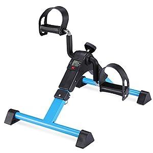 MEMEDA Mini Fahrrad Pedal Trainer für Arm- und Beintrainer Heimtrainer mit LCD-Monitor …