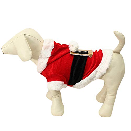 Dragon868 Hund Pullover Warm Tierhundeschlitten Santa Doggy Kostüme Pet Apparel
