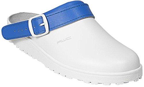 AWC Sandale / Sandale de travail / Construit pour le travail avec couleur Akzent Blanc - Weiß / Royal