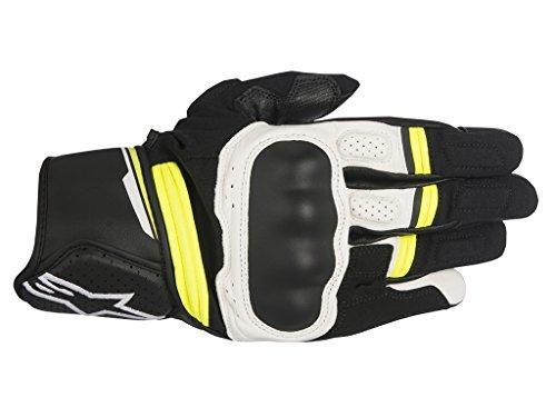 Alpinestars-Guantes Moto Booster Negro Blanco Amarillo Fluo-XL