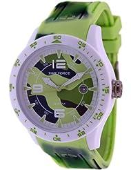 Reloj TIME FORCE de señora. Calendario. Caucho camuflaje verde. TF-4157L07