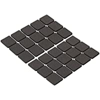 Clispeed 30pcs feltro mobili pastiglie antiscivolo pads auto piano silenzioso protezioni piedi copertura per mobili sedia da tavolo 3x3 cm (quadrato nero)
