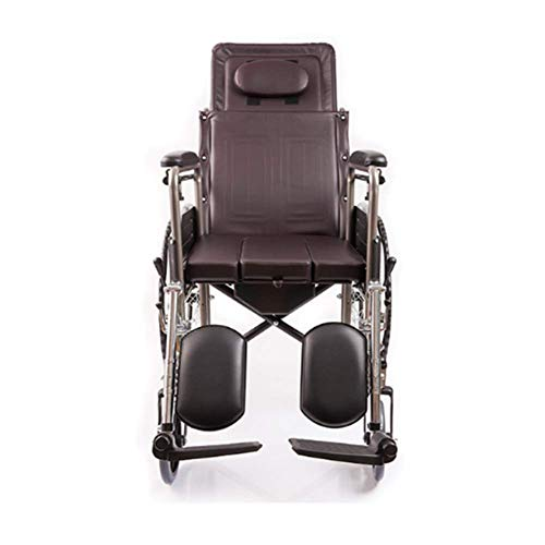 PLLP Medical Rehabilitation Chair, Wheelchair, Lightweight Folding Wheelchair, Driving Medical Medical Supplies for Adults, Wheelchair for Disabled Seated Elderly,