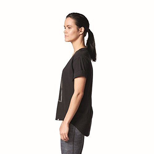 adidas Damen Letter A Graphic T-Shirt Black