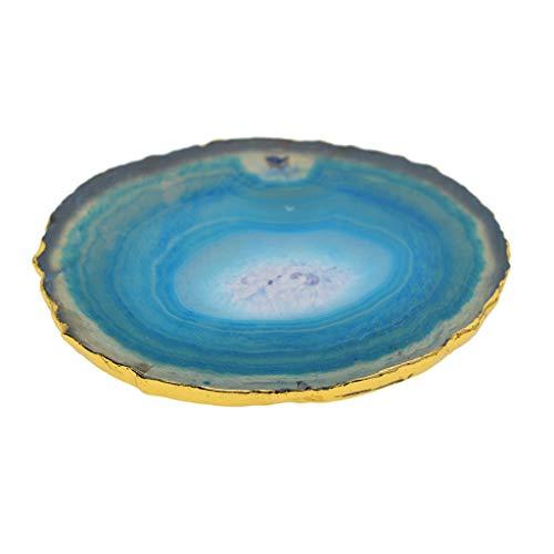 Non-brand agata slice cristallo di quarzo lucidato pietra casa ornamento tappetino