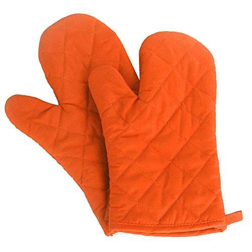 SGerste 1Paar Küche Handschuhe Backen Kochen Baumwolle Handschuh Mikrowelle hitzebeständig Handschuhe Fäustlinge Orange - Orange Mikrowelle